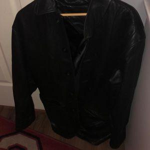 Roundtree yorke leather jacket